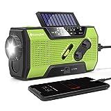 RunningSnail Solar Crank NOAA Weather Radio for Emergency...