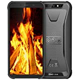 Rugged Cell Phones Unlocked, Blackview BV5500 Pro 4G Dual SIM Cell Phone Android 9.0 Waterproof Drop Proof, 3GB+16GB 5.5 inch HD+IPS 4400mAh Battery and Face ID/NFC AT&T/T-mobile Unlocked Phone, Black