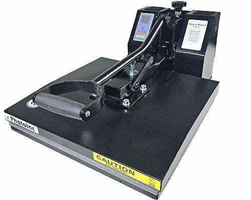 "ePhotoInc New 15"" x 15"" T Shirt Heat Press Machine T Shirt Transfer Machine 1515BLK"
