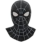 Costume Mask Halloween Cosplay Hero Mask Man Latex Full Head Mask T007 Black/White