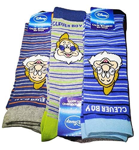 Disney 6 paia calzini in caldo cotone per bambino sette nani (27-30)