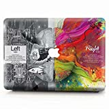 MacBook Pro 13 Case 2018 2017 2016 Model A1989/A1706/A1708, AJYX Sparkling Plastic Hard Case Shell Cover Compatible Newest MacBook Pro 13 Inch with/Without Touch Bar and Touch ID, ws23 Einstein Brain