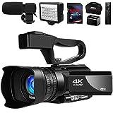 Video Camera 4K Camcorder Vlogging Camera for YouTube IR Night Vision 48MP 30FPS 30X Digital Zoom...