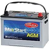 Delphi BU9034R MaxStart AGM Premium Automotive Battery, Group Size 24F / 34R (Reverse Terminal)