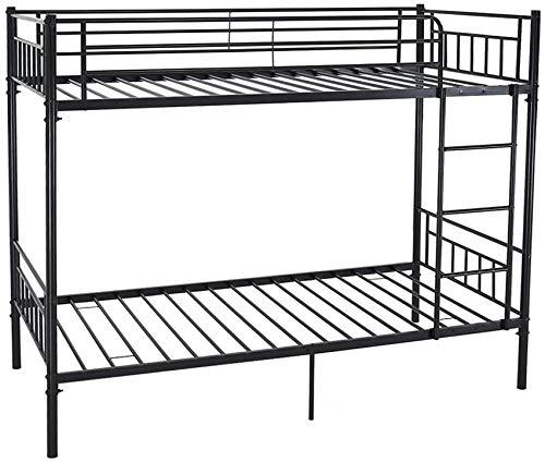 Einzel-Metall-Etagenbett mit 2 Personen Bettrahmen Kinder Doppelschlafzimmermöbel,Black