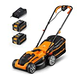 LawnMaster CLMF2434G Tondeuse à Gazon à Batterie 24 V, 4,0 Ah, 2...