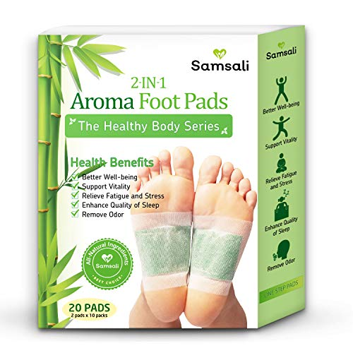 Samsali Foot Pads, Upgraded 2 in 1 Nature Foot Pads, Rapid Foot Care and Pain Relief, Higher Efficiency than Foot Sleeve and Metatarsal Pads, Best Foot Pads for Foot Care, 20 Pads