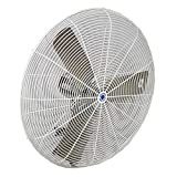 Schaefer 30CFO 30' Fixed-Mount Circulation High Airflow Fan, Industrial Made in USA, 2-Speed, 1/2 HP, 9420CFM, White