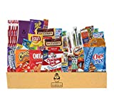 Everyday Care Package (50 Count + 1 Bonus Snack) Snack Box - An Assortment of Chips, Crackers, Candy, Cookies, Bars for Military, Students, Office, and More!