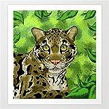 mlpnko Kits de Pintar por números DIY Leopardo DIY Pintura Al Óleo por Números sobre Lienzo Pintado A Mano Digital Wall Art Imagen para Sala De Estar40x40cm Marco DE Bricolaje
