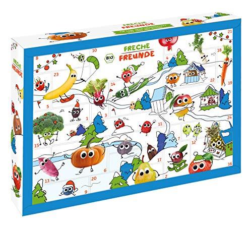 FRECHE FREUNDE Bio Adventskalender, Weihnachtskalender gefüllt mit Bio Kinder-Snacks & Spaß, ohne Industriezucker, ideal für Kleinkinder ab 1 Jahr, 2200 g 523827