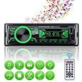 Autoradio Bluetooth Mains Libres, 4x60W Radio Voiture Support...