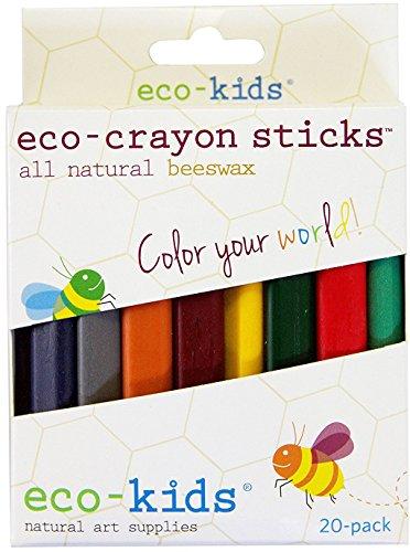 Eco-Kids エコ・キッズ エコ・蜜蝋クレヨン(スティック) 20色