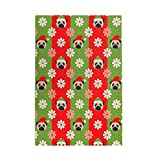 Tidyki Jigsaw Puzzle 500 Pieces Christmas Cap Floral Pugs Dogs Jigsaw Puzzles for Adult and Child Entertainment Stress Relief Game Wooden Puzzles Toys 15x20