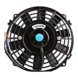 Universal Slim Fan Push Pull Electric Radiator Cooling Fans 12V 80W Engine Fan with Mount Kit Diameter 8.27' Depth 2.56')