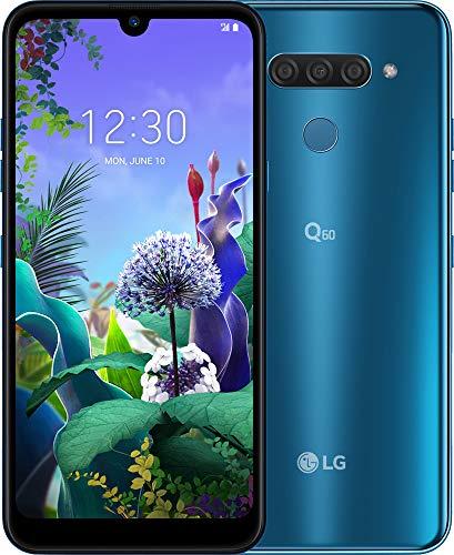 LG Q60 smartphone Dual SIM con Tripla fotocamera posteriore, Display 6.26'' HD+, batteria da 3500mAh, Selfie da 13MP, Audio DTS:X, Octa-Core 2.0GHz, Memoria 64GB, 3GB RAM, Android 9, Blue [Italia]