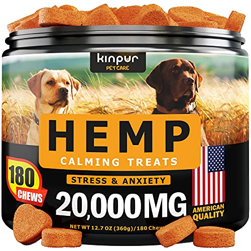 Hemp Dog Chews and Calming Treats for Dogs with...