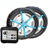 JSHANMEI Adjustable Car Tire Snow Chains Alternative Winter Traction Aid Anti Slip Auto Snow Sock, Fit for Most Car/SUV/Truck (Size 79)