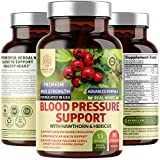 N1N Premium Blood Pressure Support with Hawthorn and Hibiscus [13 Potent Ingredients], Natural Hypertension Supplement to Improve Cardiovascular & Circulatory Health, 90 Caps
