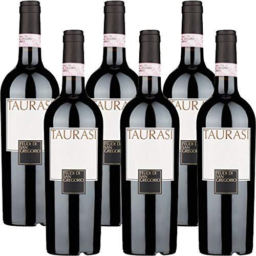 Taurasi Docg   Feudi di San Gregorio   6 Bottiglie da 75 Cl   Vino Rosso   Campania   Idea Regalo