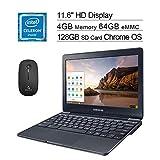 2020 Samsung 11.6 inch Chromebook Laptop| Intel Celeron N3060 up to 2.48 GHz| 4GB LPDDR3 RAM| 64GB eMMC| WiFi| Bluetooth| HDMI| Chrome OS + NexiGo Wireless Mouse + 128GB SD Card