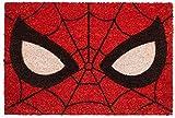 KINGAM Marvel Spiderman Eyes Paillasson en fibre de coco Multicolore 40 x 60 cm