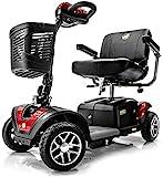 BUZZAROUND EX Extreme 4-Wheel Heavy Duty Long Range Travel Scooter (20-Inch Seat, Red)