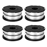 OFPOW Trimmer Replacement Spool 36ft 0.065' Compatible with Black and Decker GH710 GH700 GH750 DF-065 for Black&Decker Weed Eater String Auto-Feed Spools Dual Line Edger Parts - 4 Pack