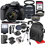 Canon EOS 800D / Rebel T7i w/Canon EF-S 18-55mm F/4-5.6 is STM Zoom Lens & Professional Accessory...