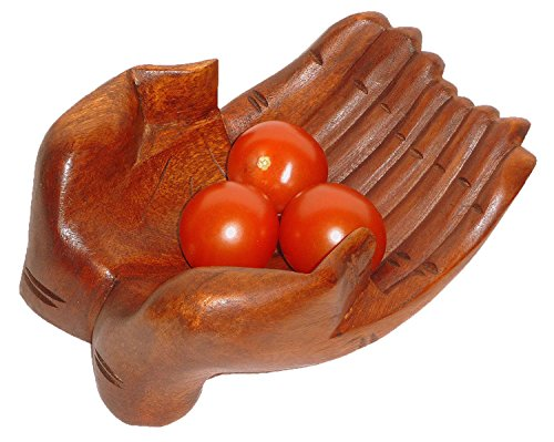 Holzschale Obstschale Ablageschale Dekoration Dekoschale handgeschnitzt aus Holz Hand Schale