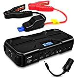 Nekteck 800A Peak 20000mAh Multifunction Car Jump Starter (Jump starts all Gas or 5.5L Diesel Engine) High Capacity Portable Battery with Dual USB Charging Output,Built in LED Flashlight,Black