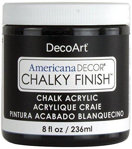 Deco Art Americana Chalky Finish Paint 8oz, Carbon