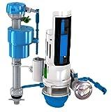 Next by Danco HYR460 Hydroright HyrdroRight Universal Water-Saving Toilet Repair Kit with Dual Flush Valve, Push Btton Handle, White