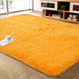 ACTCUT Ultra Soft Indoor Modern Area Rugs Fluffy Living Room Carpets for Children Bedroom Home Decor Nursery Rug 2' x 3', Orange