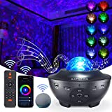 Star Projector, Galaxy Star Night Light Projector Working with Smart App & Alexa, 10 Color Music Starry Light Projector with Remote & Bluetooth, Sky Light Projector for Bedroom Kids Adults