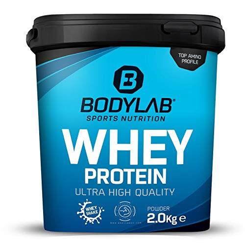 Protein-Pulver Bodylab24 Whey Protein Ananas 2kg / Protein-Shake für Kraftsport und Fitness / Whey-Pulver kann den Muskelaufbau unterstützen / Hochwertiges Eiweiss-Pulver mit 80% Eiweiß / Aspartamfrei