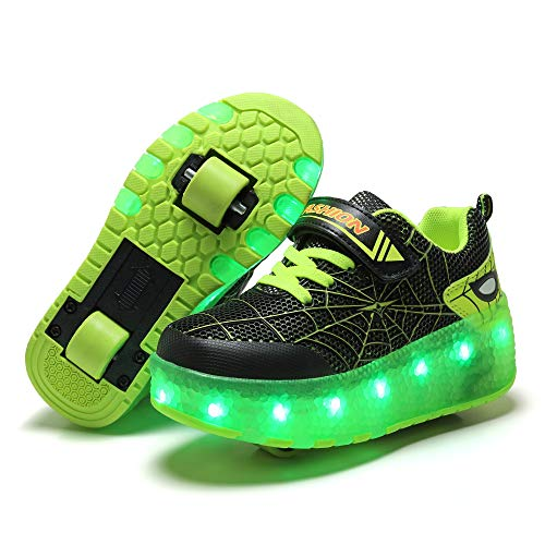 Ylllu Kids LED USB Charging Roller Skate Shoes