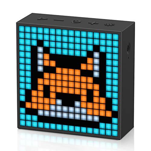 Divoom Timebox-Evo Pixel Art Bluetooth Lautsprecher mit Programmierbares 256 LED Panel, 3.9 x 1.5 x 3.9 Zoll (Schwarz)