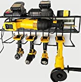 c2M Heavy Duty Floating Tool Shelf   Wall Mounted Storage Rack for Handheld & Power Tools   Compact Steel Design w/ 100# Weight Limit   Made in the USA & Perfect for Father's Day