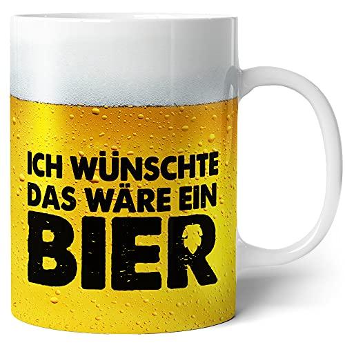 Tasse mit Bier Spruch für Männer Ich wünschte das wäre ein Bier Lustig Kaffee-Tasse...