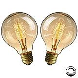 Ampoule E27 Vintage,Fil Lampe Rétro Antique 220-240V Grosse Ampoule 40W Edison...