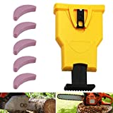 Chainsaw Sharpener, Heavy Duty Bar-Mounted Sharpener with 5 Sharpening Stones, Woodworking Saw Chain...