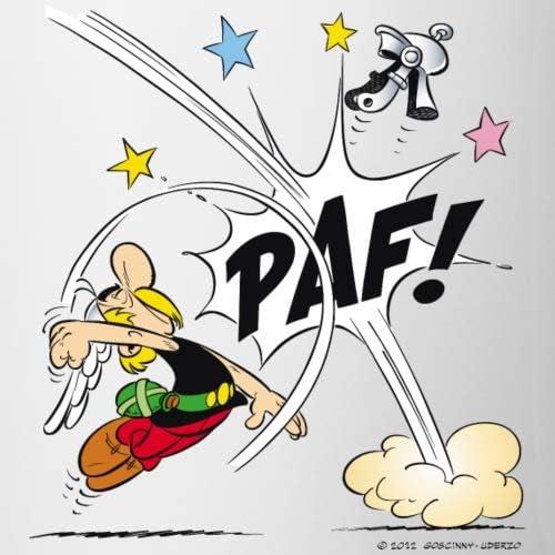 Spreadshirt Astérix & Obélix Coup De Poing Paf Mug Bicolore, blanc/jaune :  Amazon.fr: Cuisine et Maison