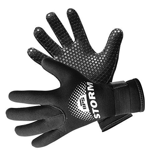 1. BPS 3mm Neoprene Full Finger, Kayaking, Paddle Sports & Scuba Gloves with Anti Slip Palm