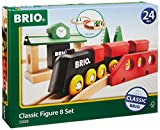 BRIO World - 33028 Classic Figure 8 Set | 22 Piece Toy Train Set with Accessories and Wooden Tracks for Kids Age 2 and Up