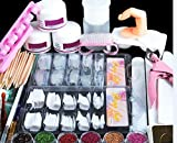 Coscelia Kit Manucure Ongles Nail Art Tips Faux Ongles Paillettes Décor...