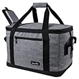 Hap Tim Soft Cooler Bag 40-Can Large Reusable Grocery Bags Upgraded Soft Sided Collapsible Travel Cooler for Outdoor Travel Hiking Beach Picnic BBQ Party(US13634-Grey)