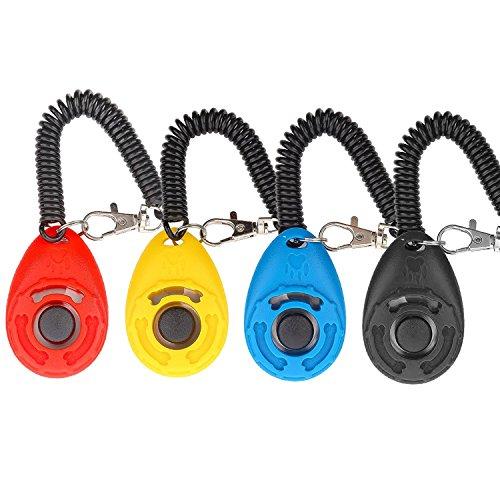 Diyife Clicker para Adiestramiento Perro, 4 Piezas, Multicolor con...