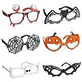 6 Pack Halloween Glasses for Halloween Costume Party Favors, Cute Toy Glasses for Halloween Party Supplies