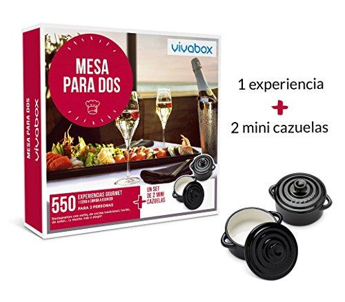 VIVABOX Caja Regalo -Mesa para Dos- 280 restaurantes. Incluye: un Set...